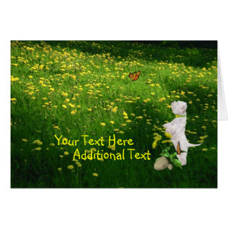 Customize It Westie Puppy Easter Card