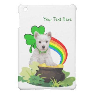 Customize It! Westie Puppy St. Patrick's Design iPad Mini Cover