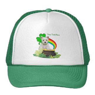 Customize It! Westie Puppy St. Patrick's Design Trucker Hat