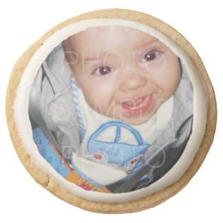 Customize it with Your photo Shortbread Cookies Round Sugar Cookie