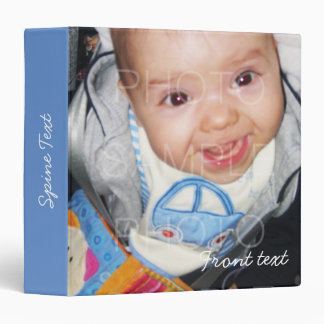 Customize it with Your photos and text on Blue Binder