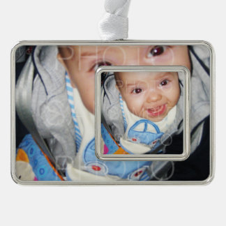 Customize it with Your photos Framed Ornament Silver Plated Framed Ornament