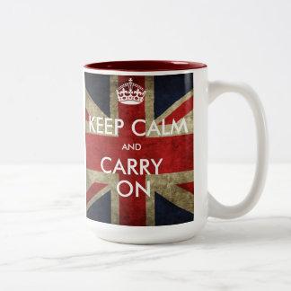 Customize Keep Calm and Carry On Coffee Mugs