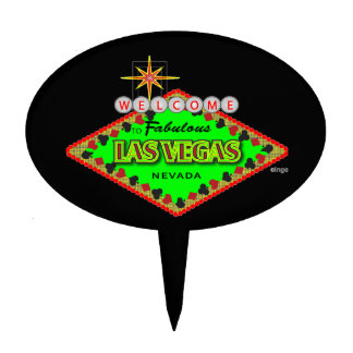 Customize Las Vegas Cake Topper