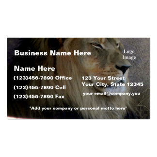 Customize Lion - King of the Beast Business Card Templates