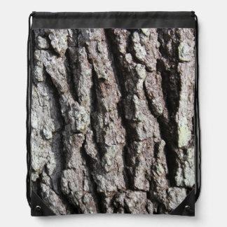 Customize Live Oak Tree Bark photo Drawstring Bag