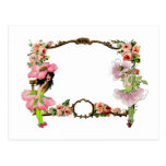 Customize lovely vintage art fairies flowers frame post card