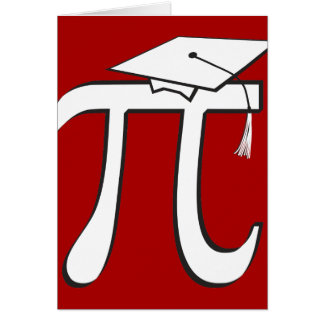 Customize - Math Pi Graduate Cards