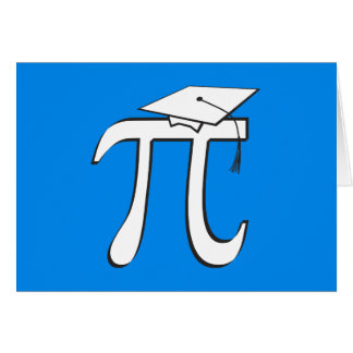 Customize - Math Pi Graduate Card