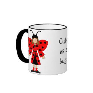 Customize Me -- Bee and Ladybug costumes Ringer Coffee Mug