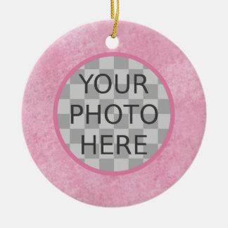 Customize Me! Cherry Blossom Pink Ceramic Ornament
