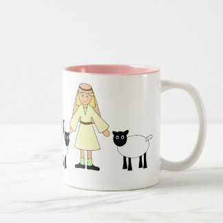 Customize Me -- Children s Nativity Shepherd Girl Mug