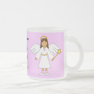 Customize Me -- Children's Nativity Angel Frosted Glass Coffee Mug