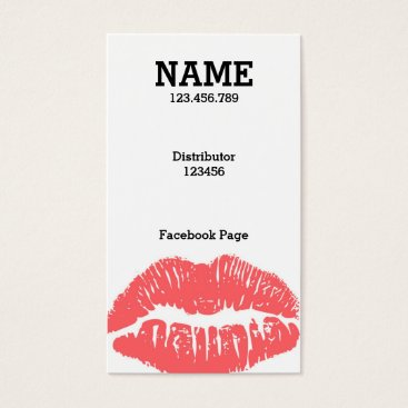 Professional Business Customize ME! Light Pink Lips Business card