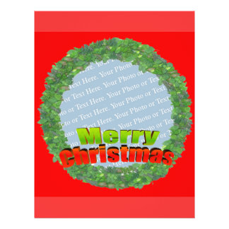 Customize Me - Merry Christmas Wreath Frame Flyer