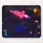 """""""customize me!"""" Outer Space Mouse Pad"""