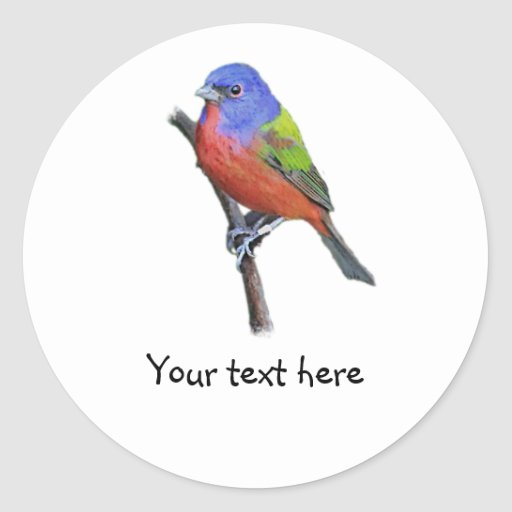 Customize Me! Painted Bunting Sticker