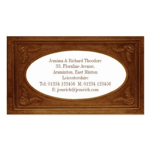 Customize Metallic Bronze Border Business Cards