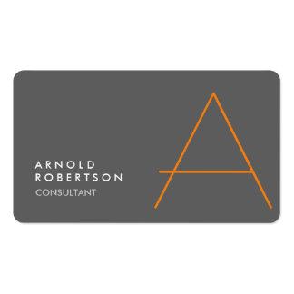 Customize Monogram Plain Gray Trendy Business Card
