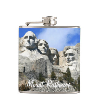 Customize Mount Rushmore National Memorial photo Flask