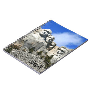 Customize Mount Rushmore National Memorial photo Spiral Note Books