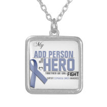 Customize MY HERO:  Esophageal Cancer Silver Plated Necklace