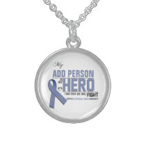 Customize MY HERO:  Esophageal Cancer Sterling Silver Necklace