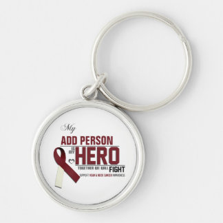 Customize MY HERO:  Head & Neck Cancer Keychain