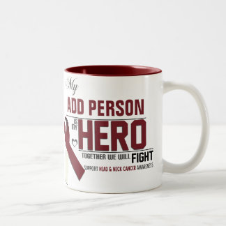 Customize MY HERO:  Head & Neck Cancer Two-Tone Coffee Mug