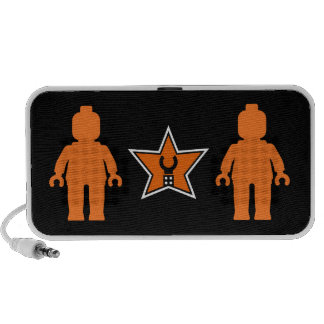 Customize My Minifig Logo, with Orange Minifigs Portable Speaker