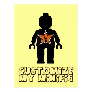Customize My Minifig Minifig Man Postcard