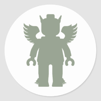 Customize My Minifig Winged Greek God 4.png Classic Round Sticker