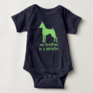 Customize My Sister is a MinPin Baby One Piece Baby Bodysuit