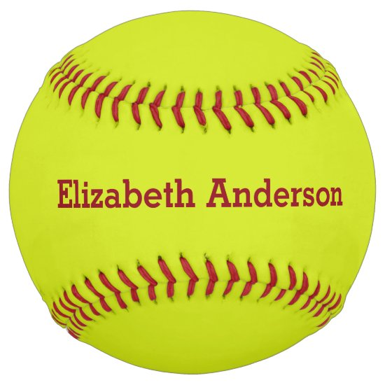 Customize Name Monogram Softball