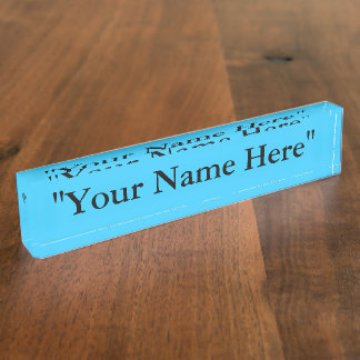 Customize Name Plate for your desk at the office