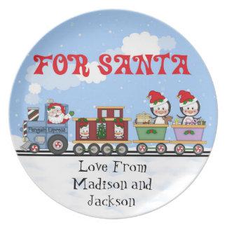 customize name Santa cookie Plate