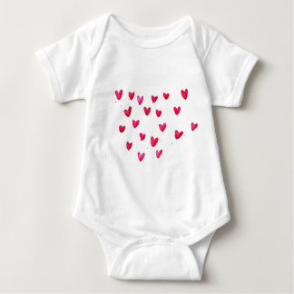 Customize Name with joyful hearts Baby Bodysuit