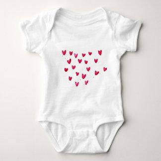 Customize Name with joyful hearts Baby Bodysuit