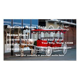 (Customize) New Orleans Carriage Ride Double-Sided Standard Business Cards (Pack Of 100)