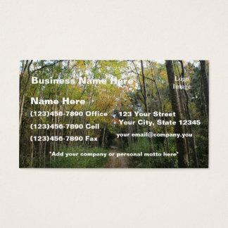 (Customize) Nice Autumn Forest Path Business Card