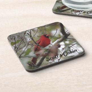 Customize Nice Cardinal photo Beverage Coaster