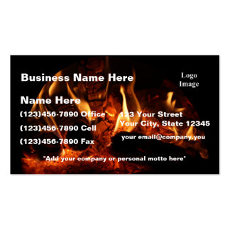 (Customize) Oak Flames in Chimenea Double-Sided Standard Business Cards (Pack Of 100)