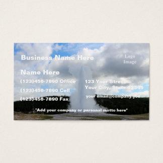(Customize) Old Faithful Photo at Yellowstone Business Card