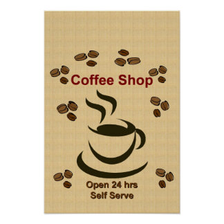 Customize or Personalize It - Coffee Shop Poster