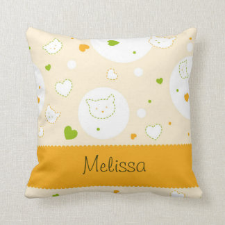 Customize Orange Kitten Pillow