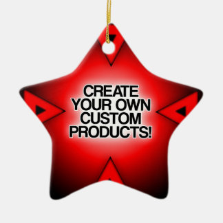 Customize / Personalize / Create your own Double-Sided Star Ceramic Christmas Ornament