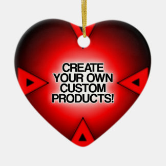 Customize / Personalize / Create your own Double-Sided Heart Ceramic Christmas Ornament