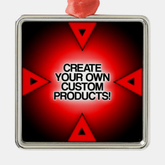 Customize / Personalize / Create your own Square Metal Christmas Ornament