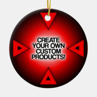 Customize / Personalize / Create your own Double-Sided Ceramic Round Christmas Ornament