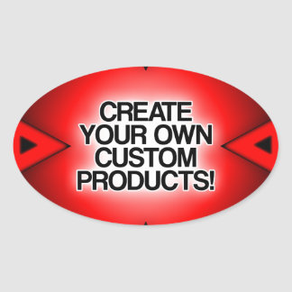 Customize / Personalize / Create your own Oval Sticker